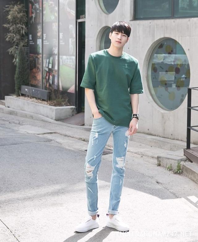 Xắn gấu quần jeans nam đẹp 2