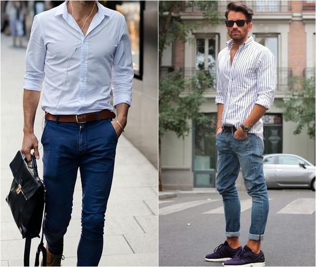 Xắn gấu quần jeans nam đẹp 6