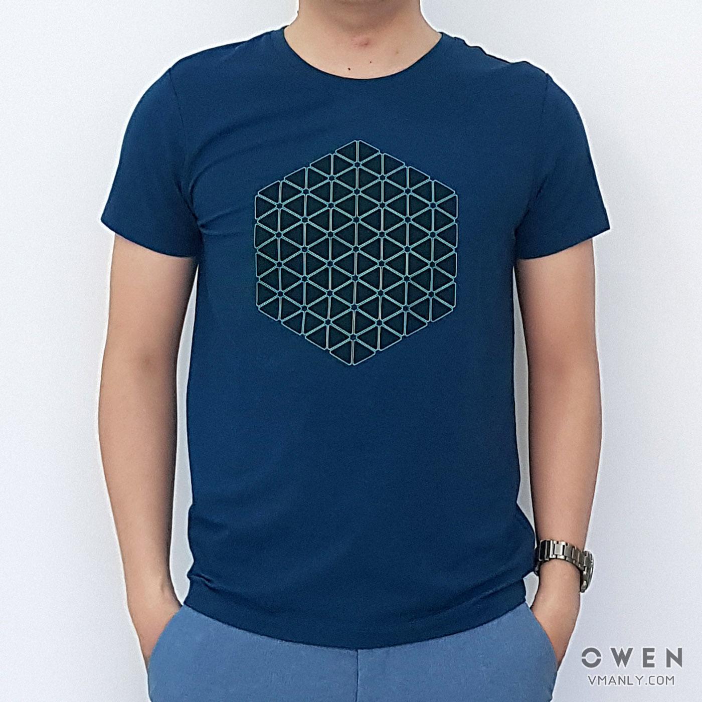 Áo T-shirt nam Owen cổ tròn màu xanh ngọc TSN90708