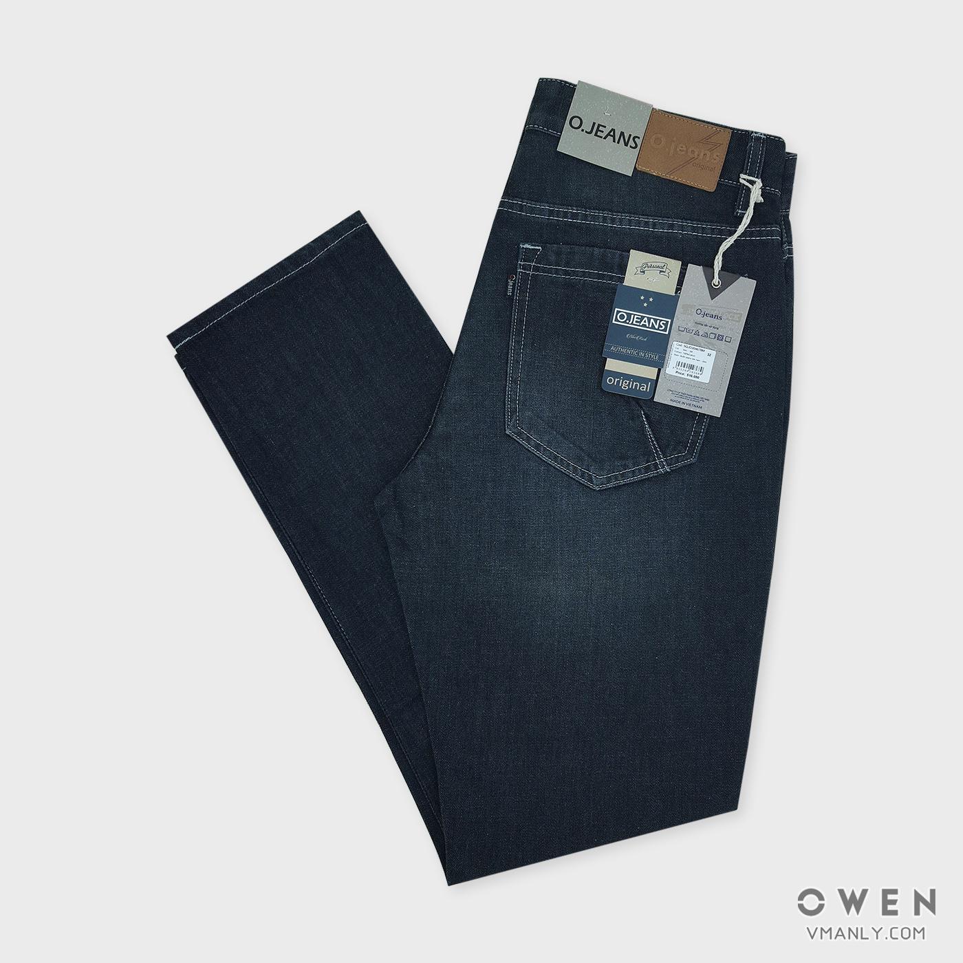 Quần Jeans nam Owen - OJeans ống côn màu đen 5QJD30467BM