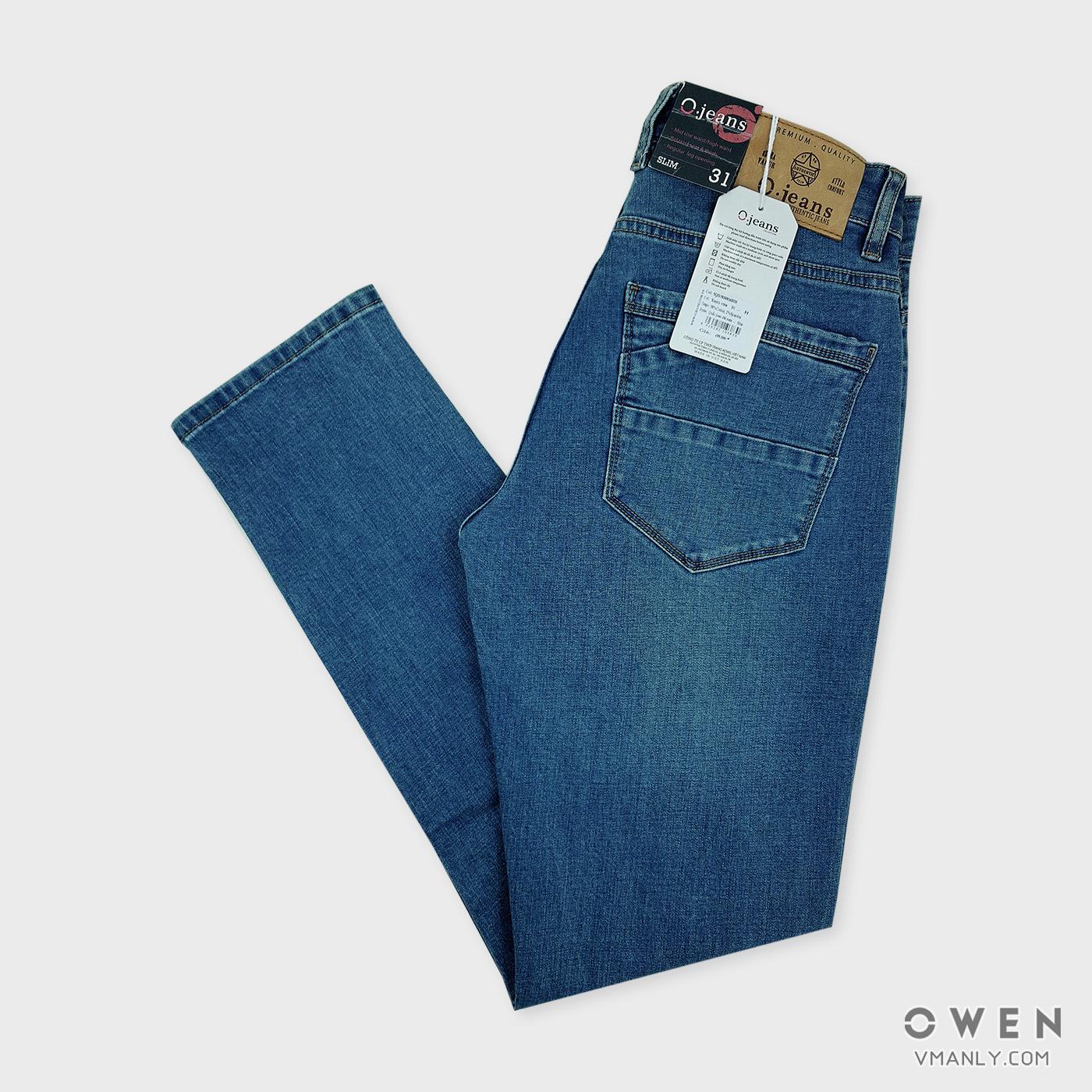 Quần Jeans nam Owen - OJeans ống côn màu xanh nhạt 5QDJ830816BM