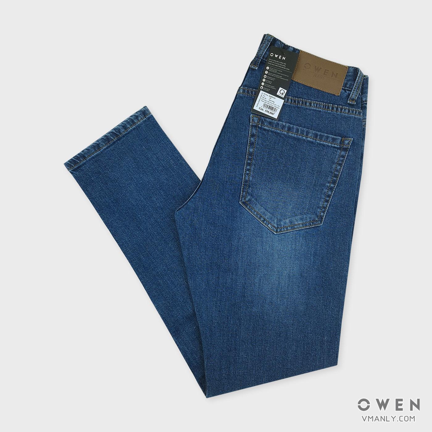 Quần Jeans nam Owen - OJeans ống côn màu xanh nhạt QJD81432