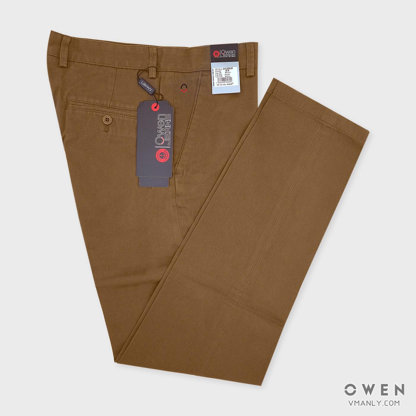 Quần kaki Owen không li slimfit  màu nâu QKSL6200