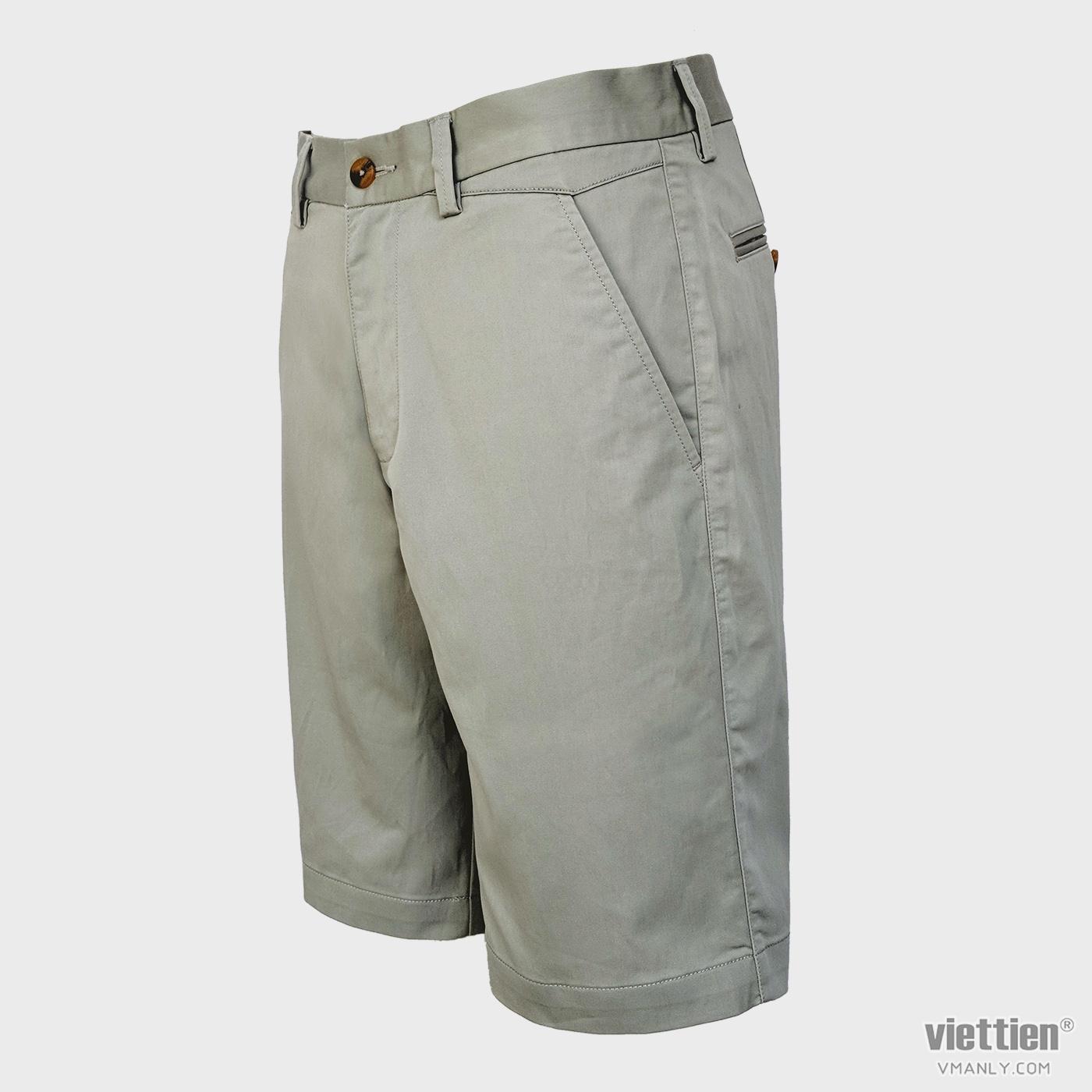 Quần short kaki nam Việt Tiến màu trắng 6N8006BT4/QSK