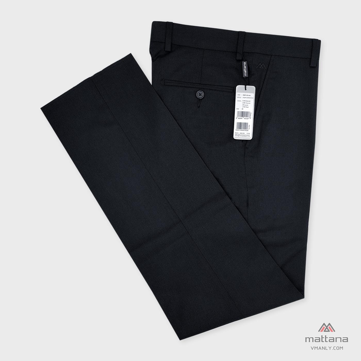 Quần tây Mattana không li classic-fit màu đen MQM91160064519523