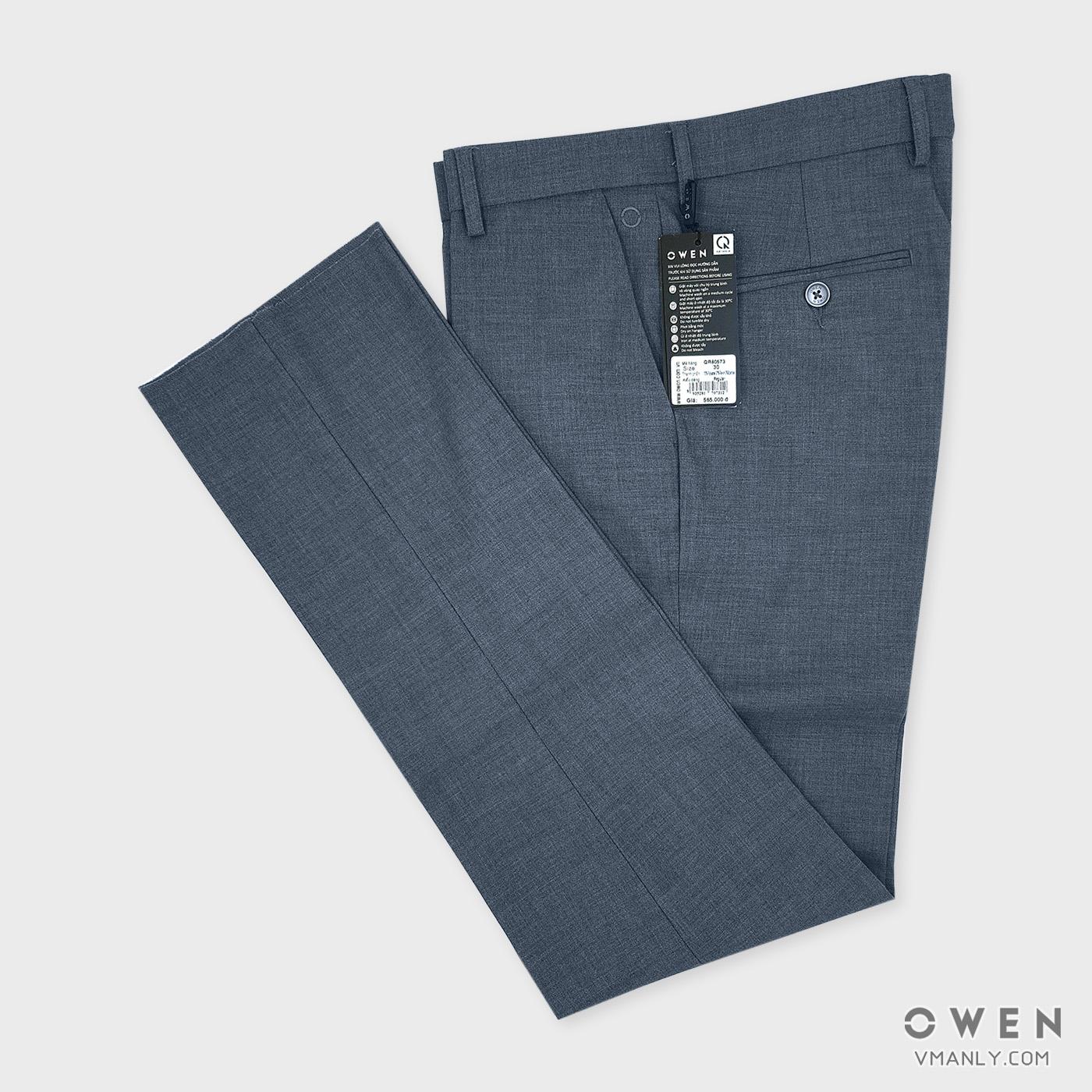 Quần tây Owen không li regular màu xám lông chuột QR80573
