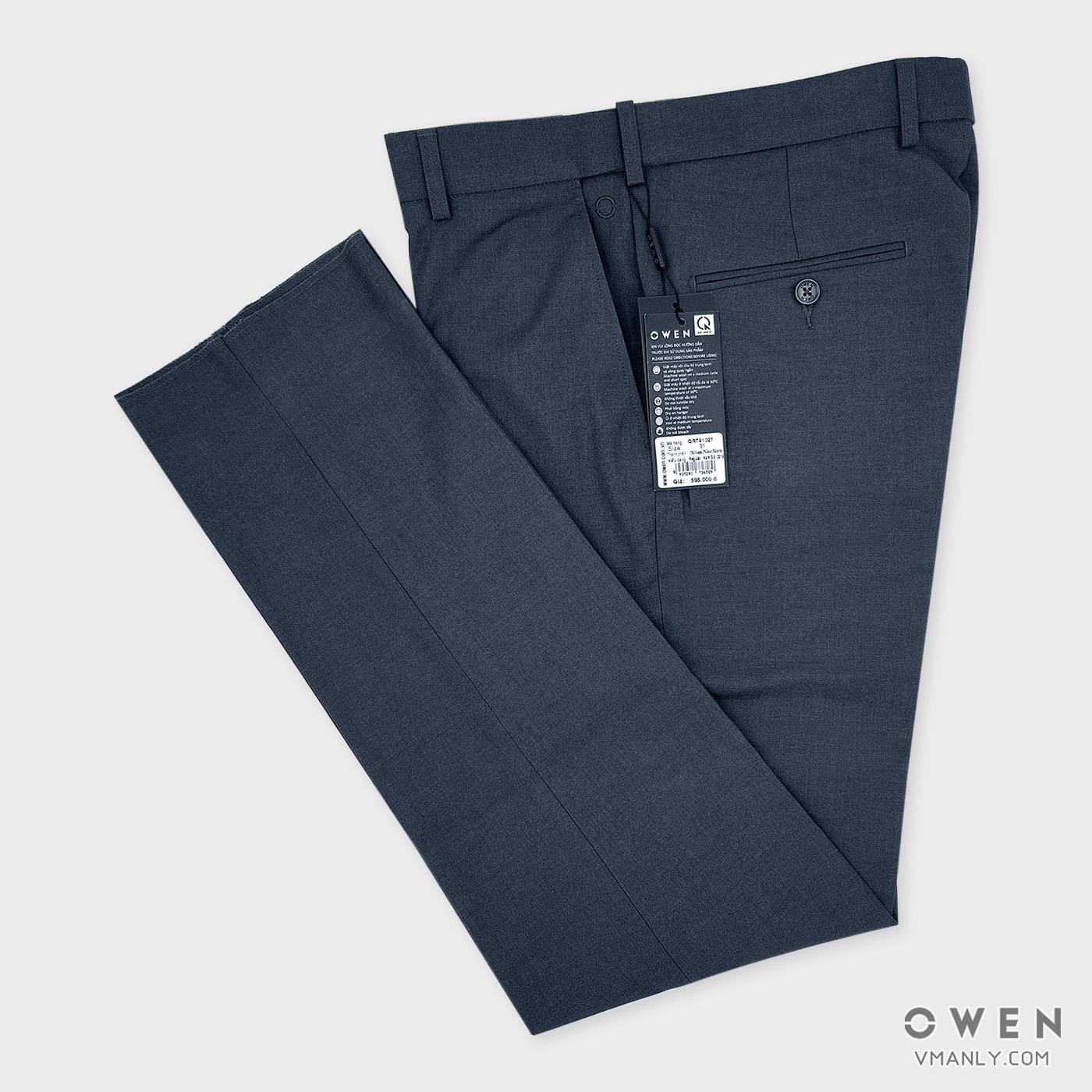 Quần tây Owen không li regular màu ghi QRT91027