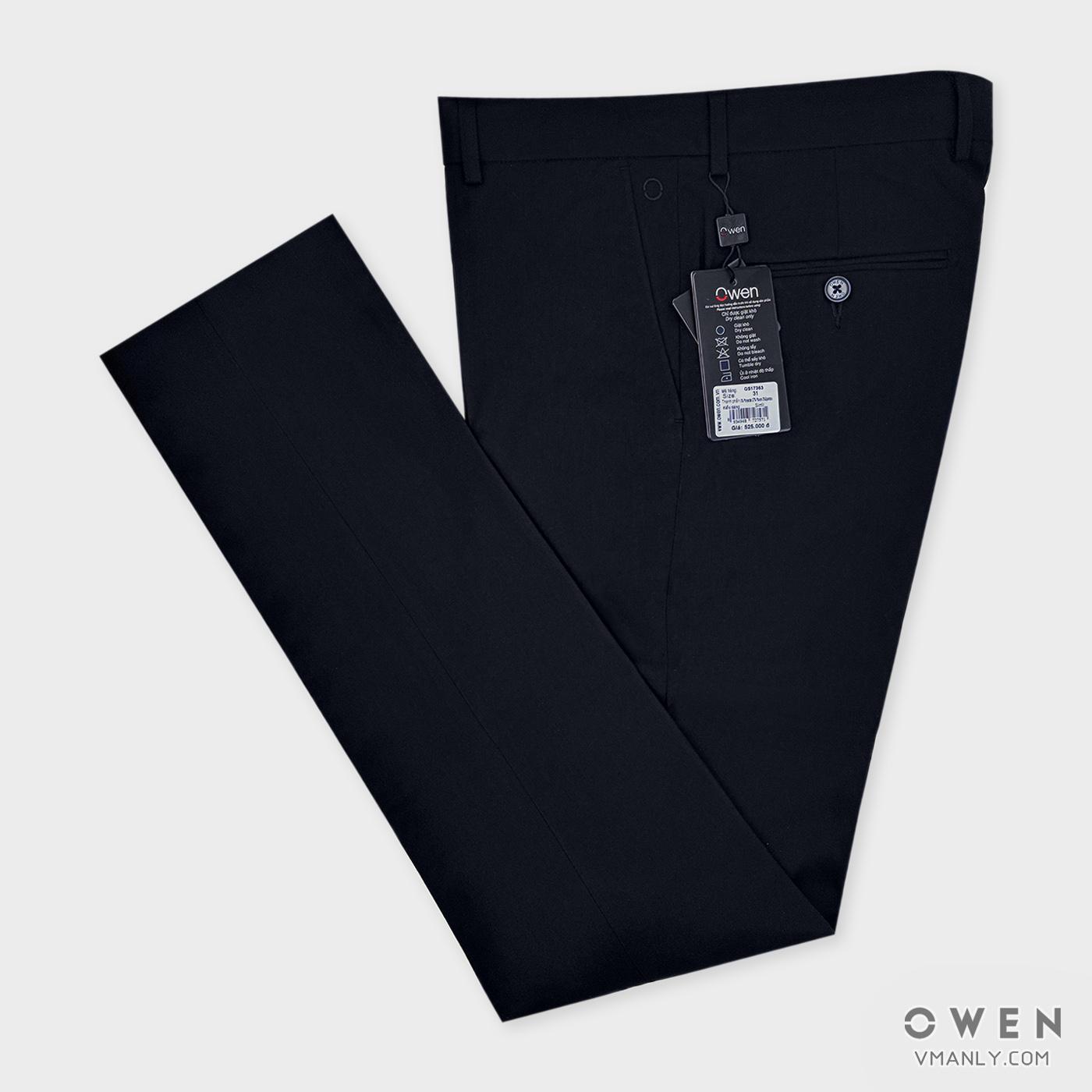 Quần tây Owen không li slimfit màu đen QS17363