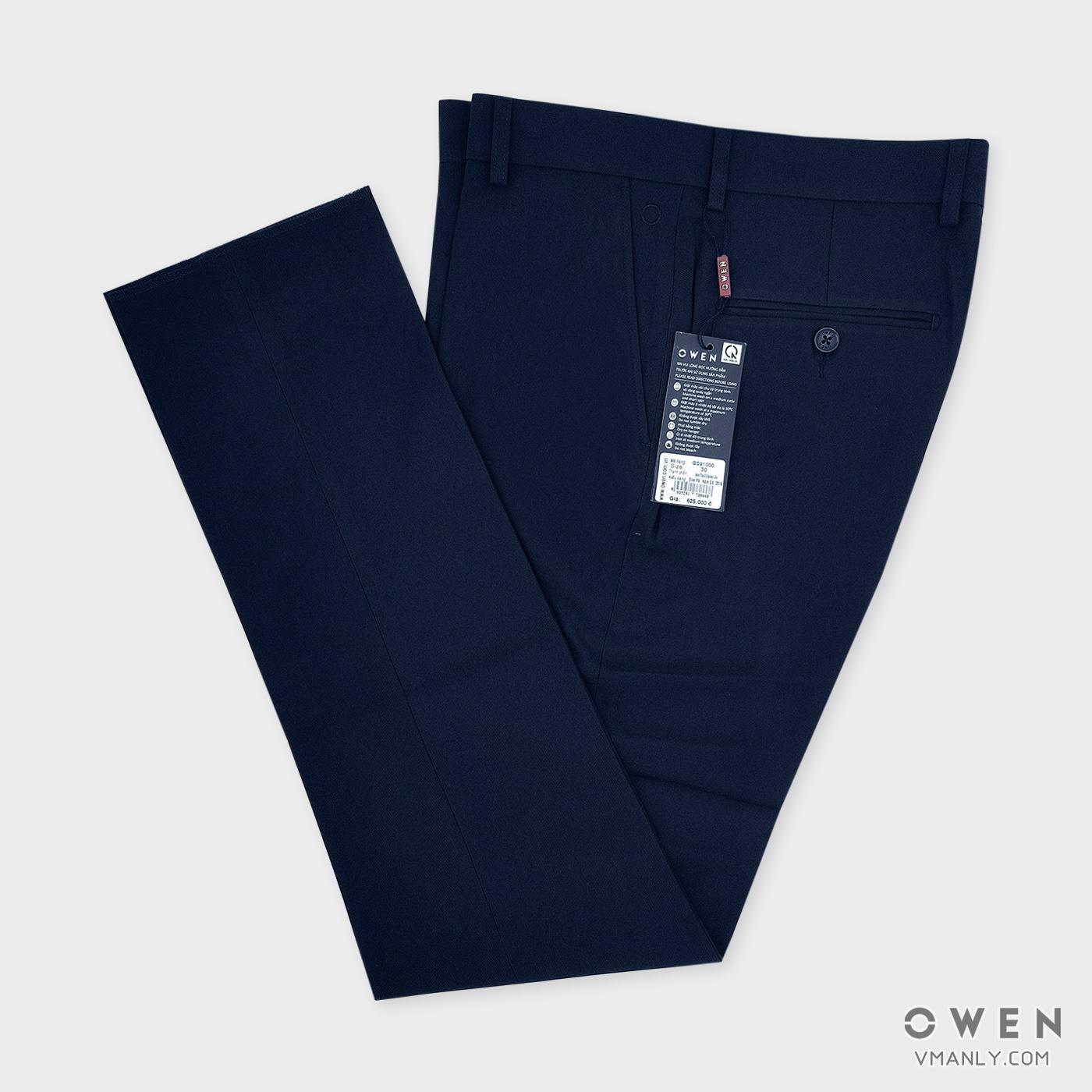 Quần tây Owen không li slimfit màu tím than QS91000