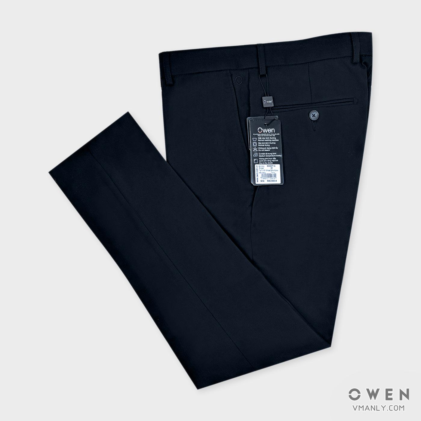 Quần tây Owen không li trendy màu tím than QD80718