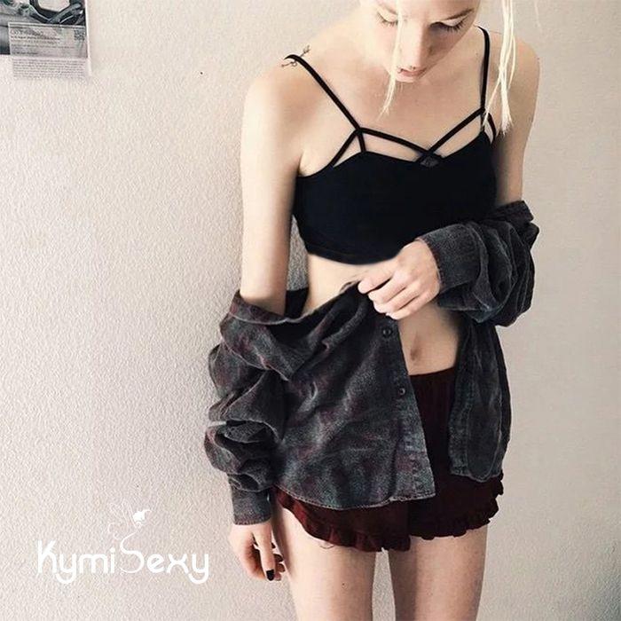 Áo lót nữ viền dây chéo lưng