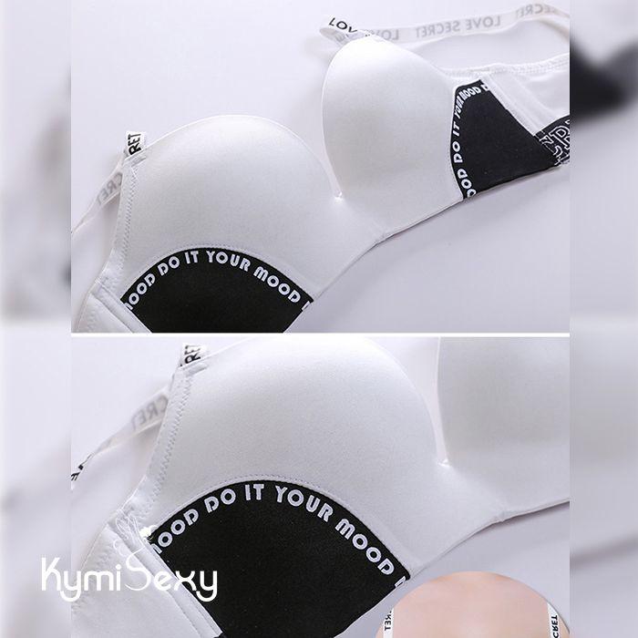 Áo lót su nâng ngực kiểu thể thao dây viền chữ