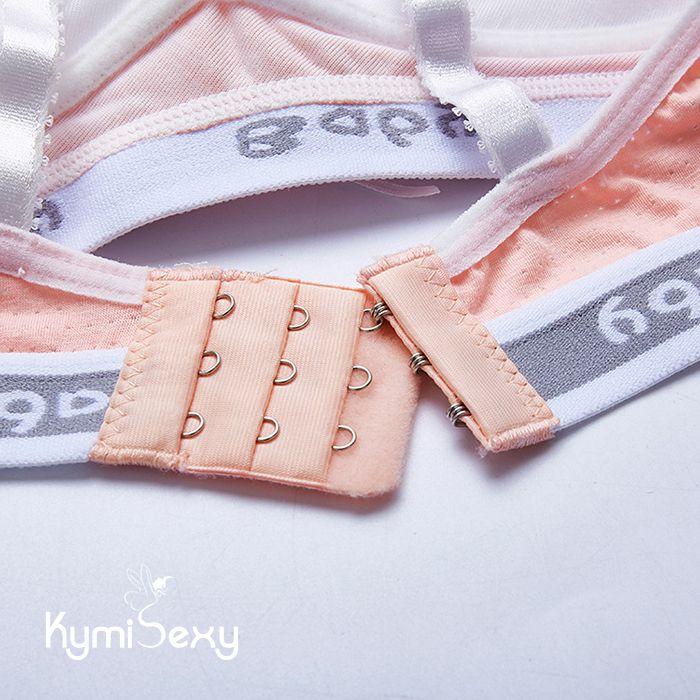 Bộ đồ lót áo ngực bo thun viền chữ gợi cảm