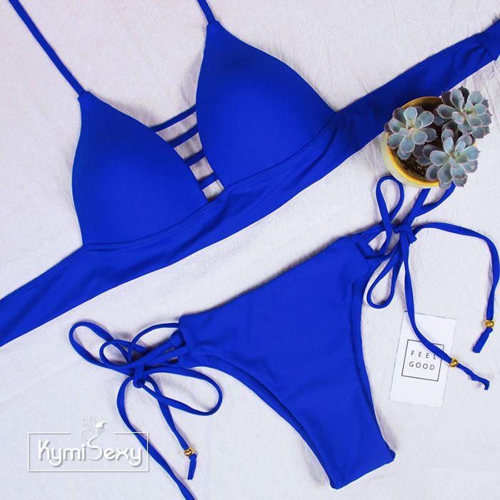 Đồ bơi nữ 2 mảnh viền dây ngực