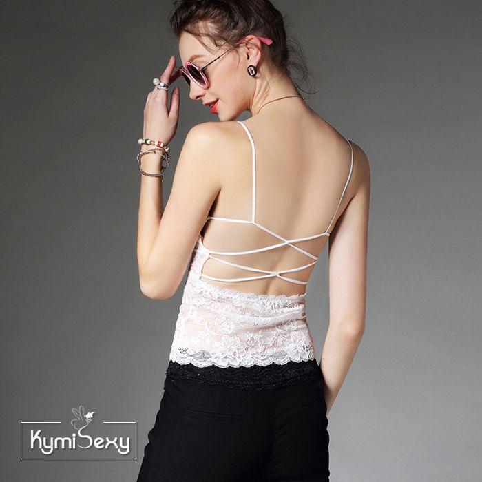 Áo lót ren nữ dây mảnh chéo lưng