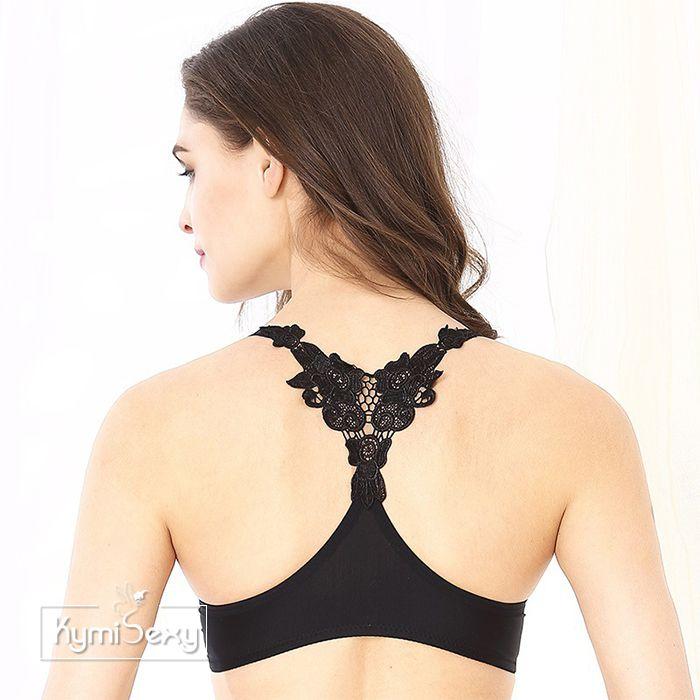 Áo ngực nữ khóa cái trước lưng phối ren hoa