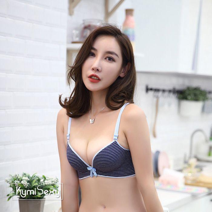 Áo ngực nữ không gọng thun sọc ngang