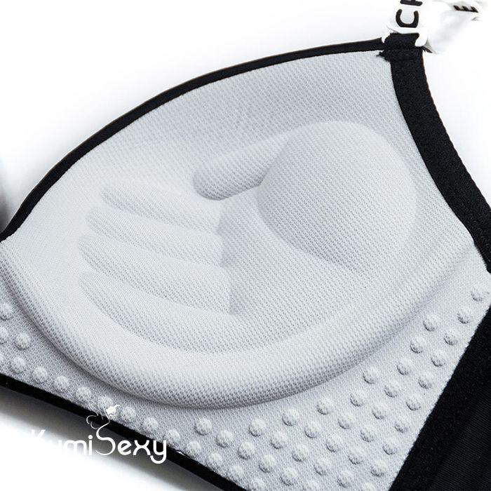 Áo ngực trắng đen kiểu thể thao