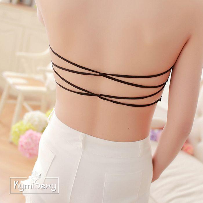 Áo ống ren nữ dây chéo lưng