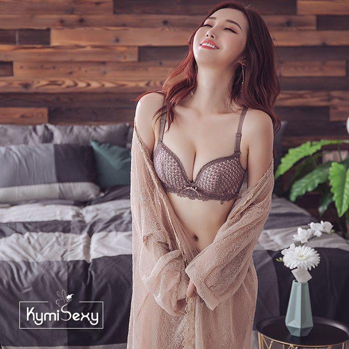 Bộ đồ lót nữ ren nổi cúp ngực V