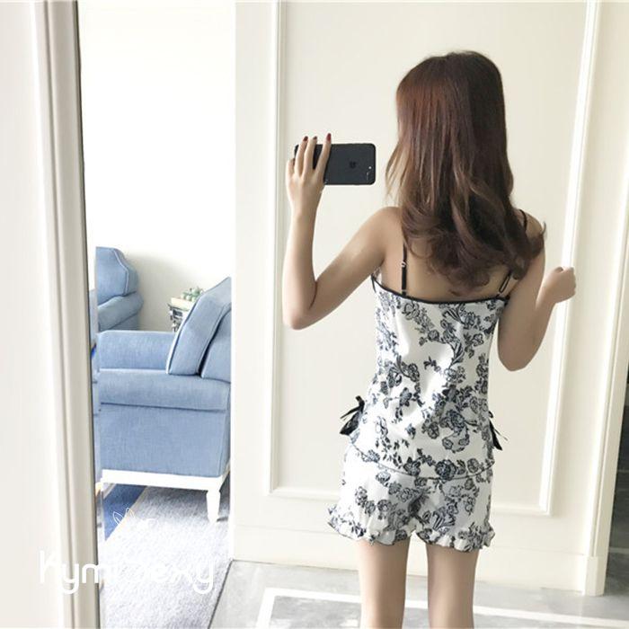 Bộ đồ hoa quần ngắn áo 2 dây