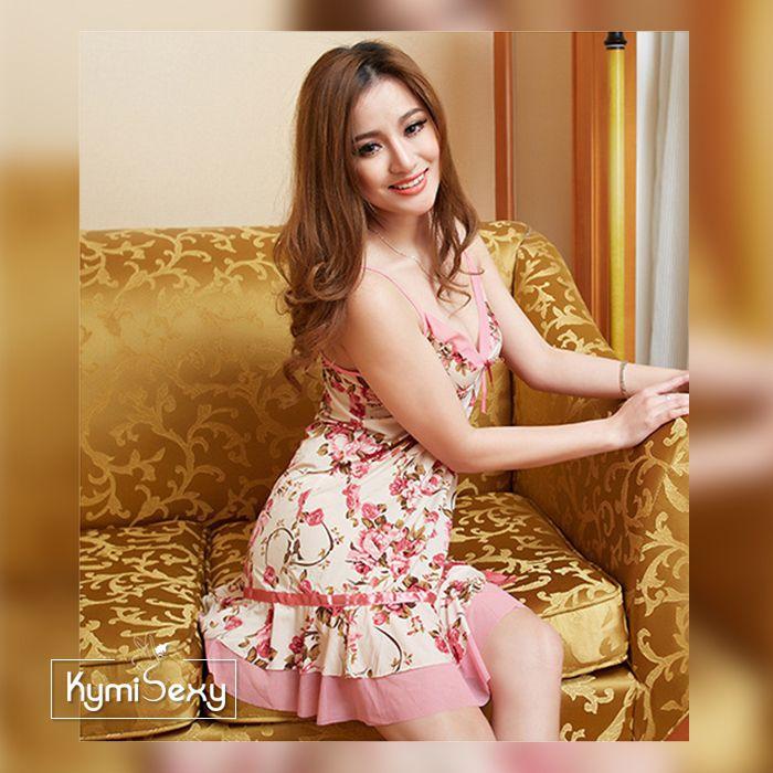 Đầm thun nữ hình hoa hồng