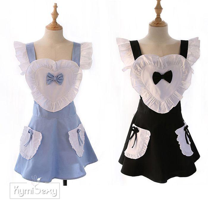 Váy ngủ người hầu trái tim