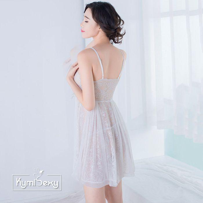 Váy ngủ nữ ren hoa lưới sang trọng