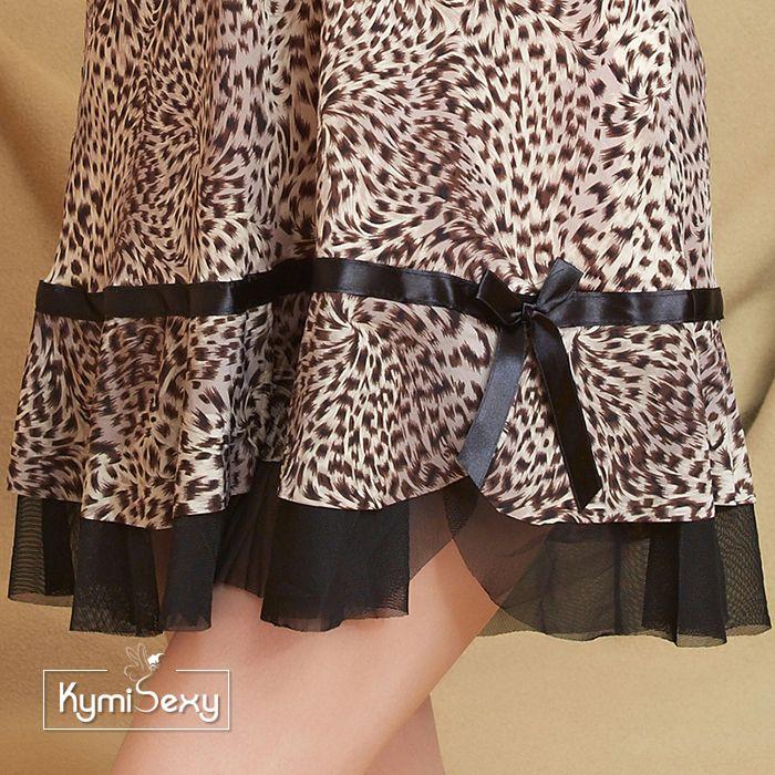 Váy ngủ nữ thun lạnh họa tiết da beo