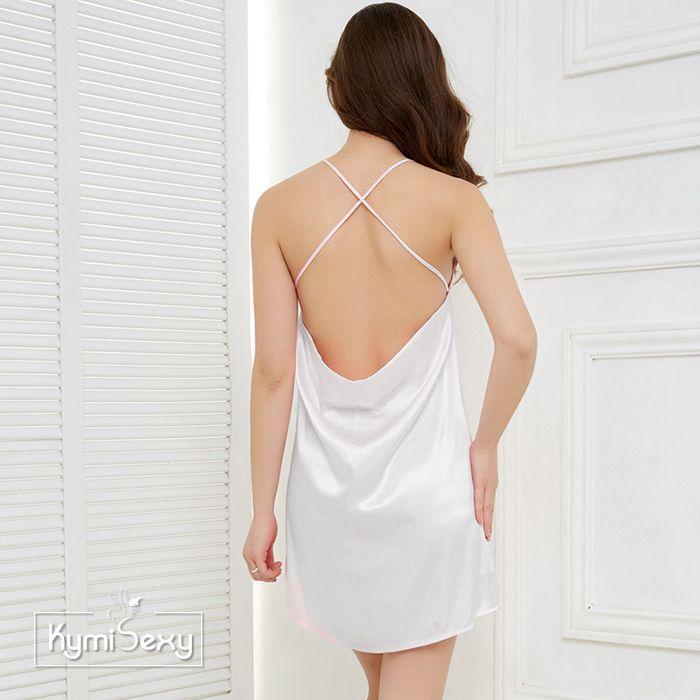 Váy ngủ phi lụa dây chéo lưng