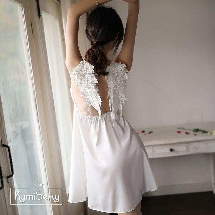 Váy ngủ phi lụa hình đôi cánh