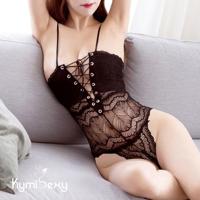 Váy ngủ ren áo liền quần dây chéo ngực