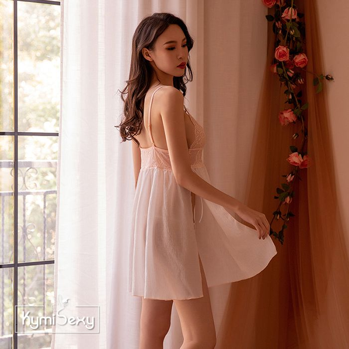 Váy ngủ ren ngực 2 mảnh