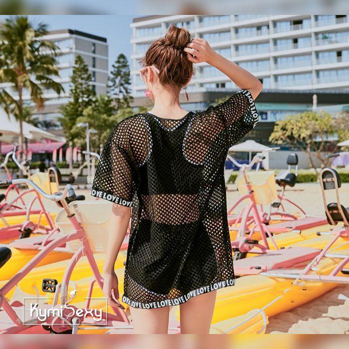 Bộ đồ đi biển kèm áo lưới