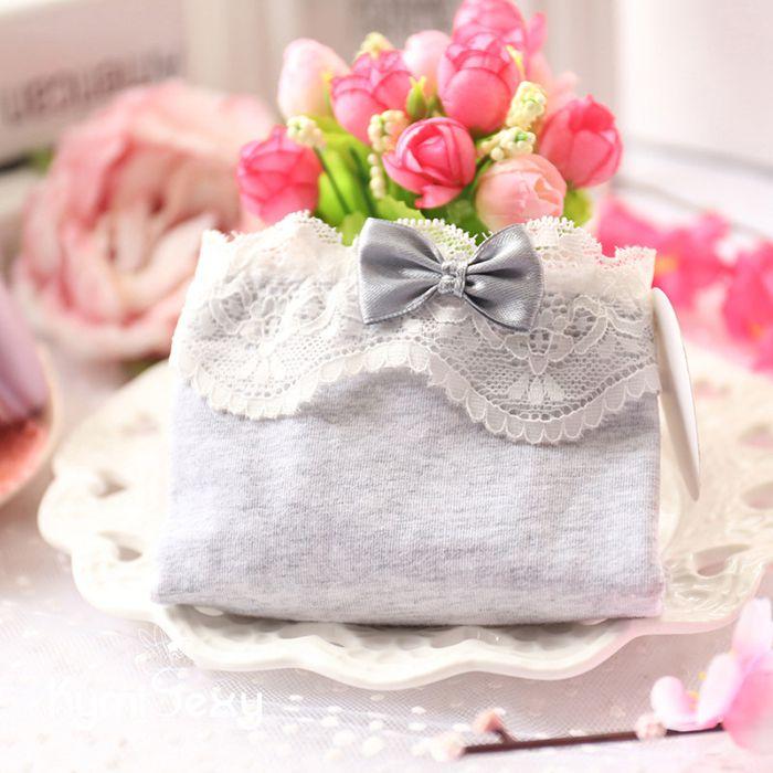 Quần lót nữ Cotton viền ren trắng xinh xắn