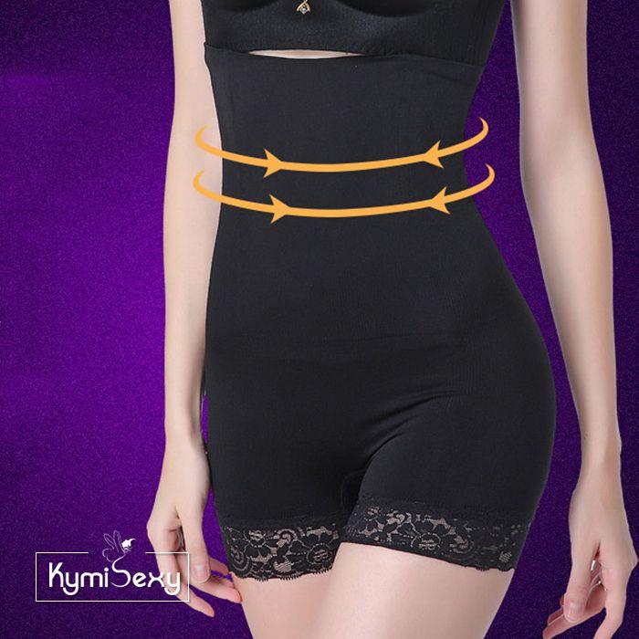 Quần gen ôm bụng lưng cao chống cuộn viền ren