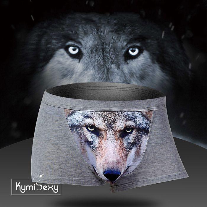 Quần lót nam hình sói 3D
