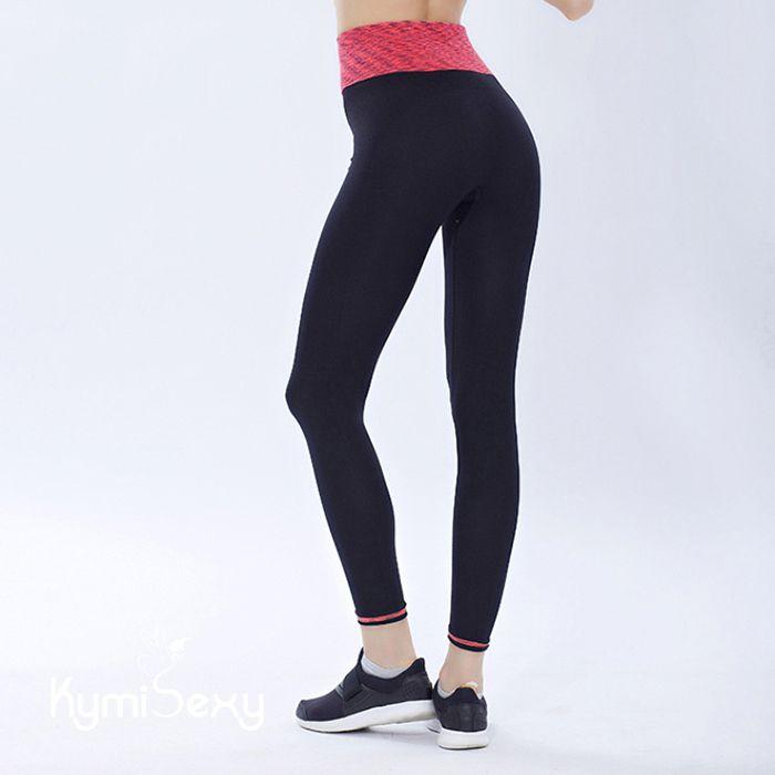 Quần nữ tập gym thun lưng bản lớn