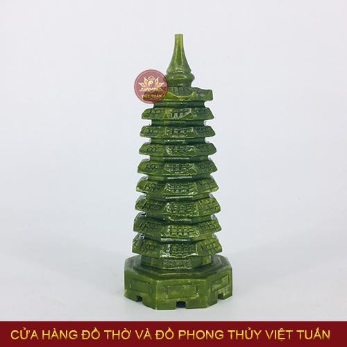 Thap Văn Xương Thạch Anh Xanh Phong Thủy Việt Tuấn