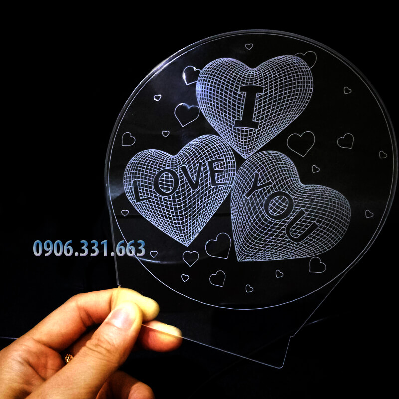 đèn led 3d i love you