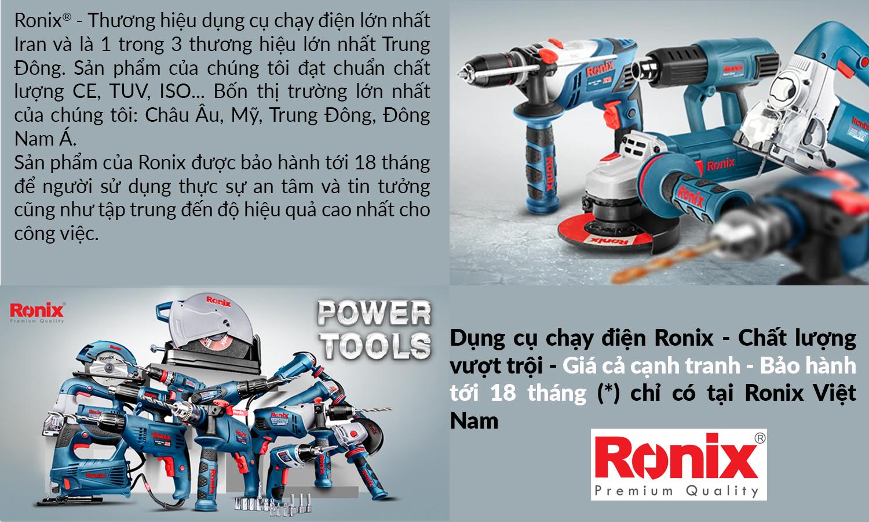 Ronix Việt Nam | Máy khoan cầm tay, máy khoan đục bê tông chạy điện