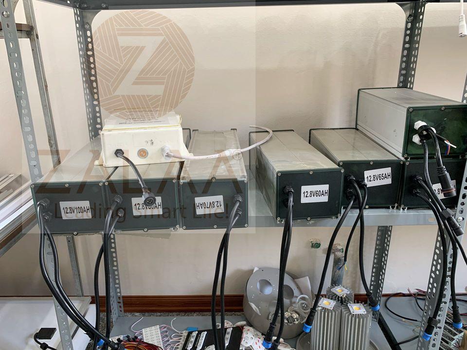 Bộ lưu điện Pin Lithium FePO4 năng lượng mặt trời 12.8V dung lượng 60Ah, 70AH, 80AH, 100Ah dùng cho đèn năng lượng mặt trời