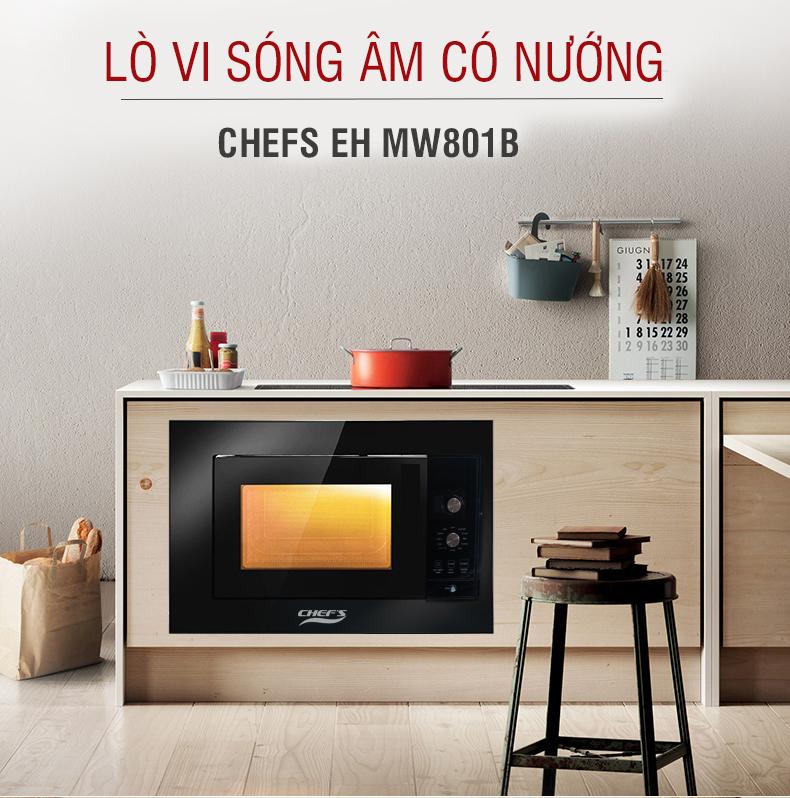Lò vi sóng Chef's EH-MW801B 4