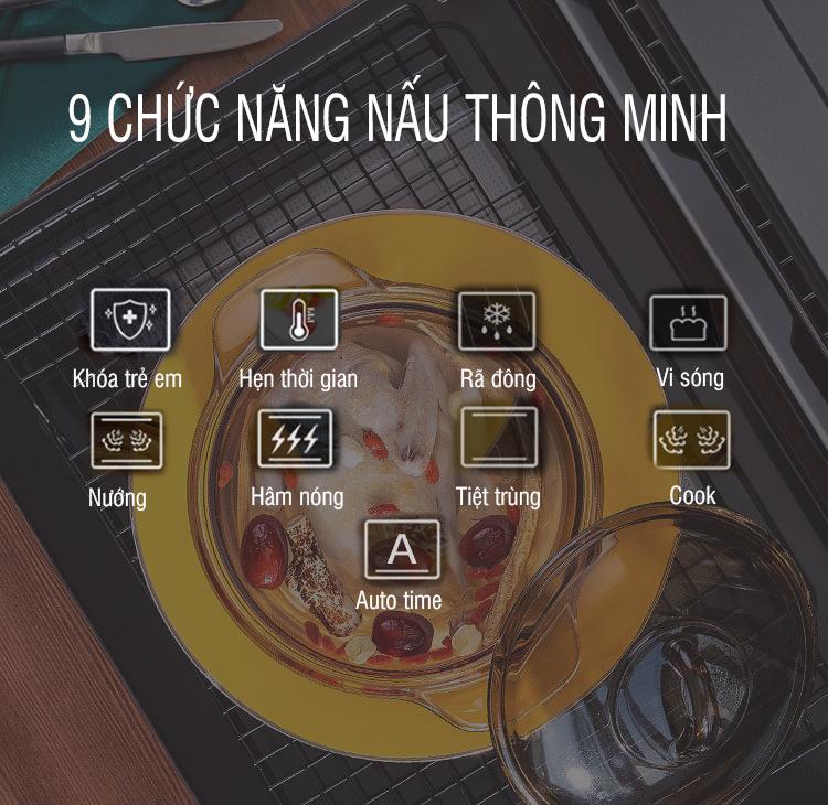 Lò vi sóng Chef's EH-MW801B 6