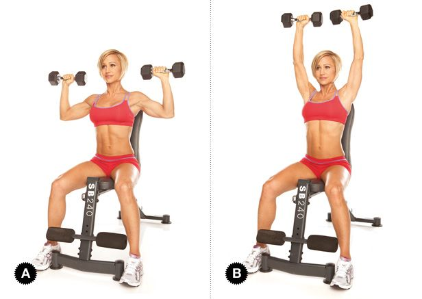 lich tap gym giam can seated dumbbell press