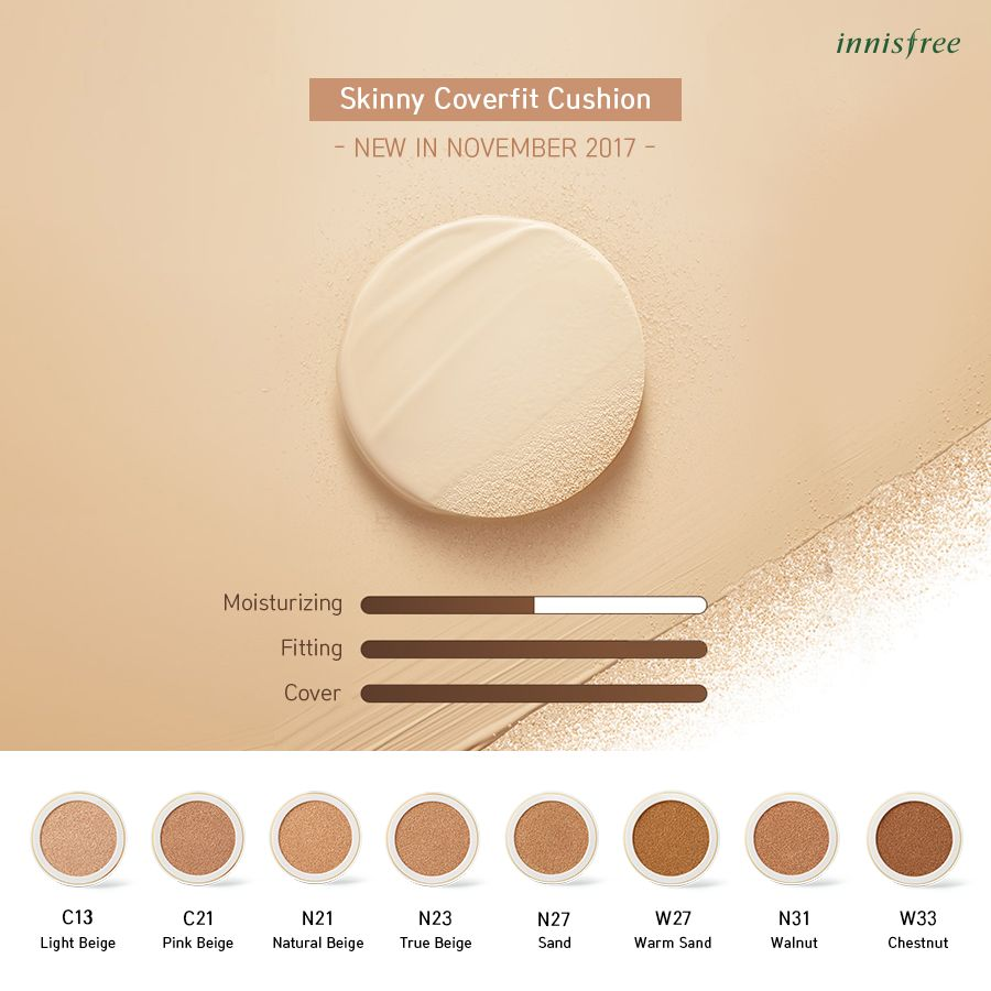 Phấn nước Innisfree Skinny Coverfit Cushion SPF34