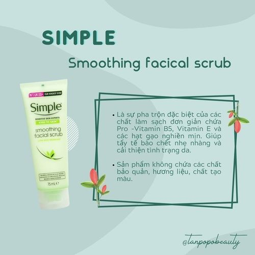 TẨY DA CHẾT SIMPLE SMOOTHING FACIAL SCRUB 75ML