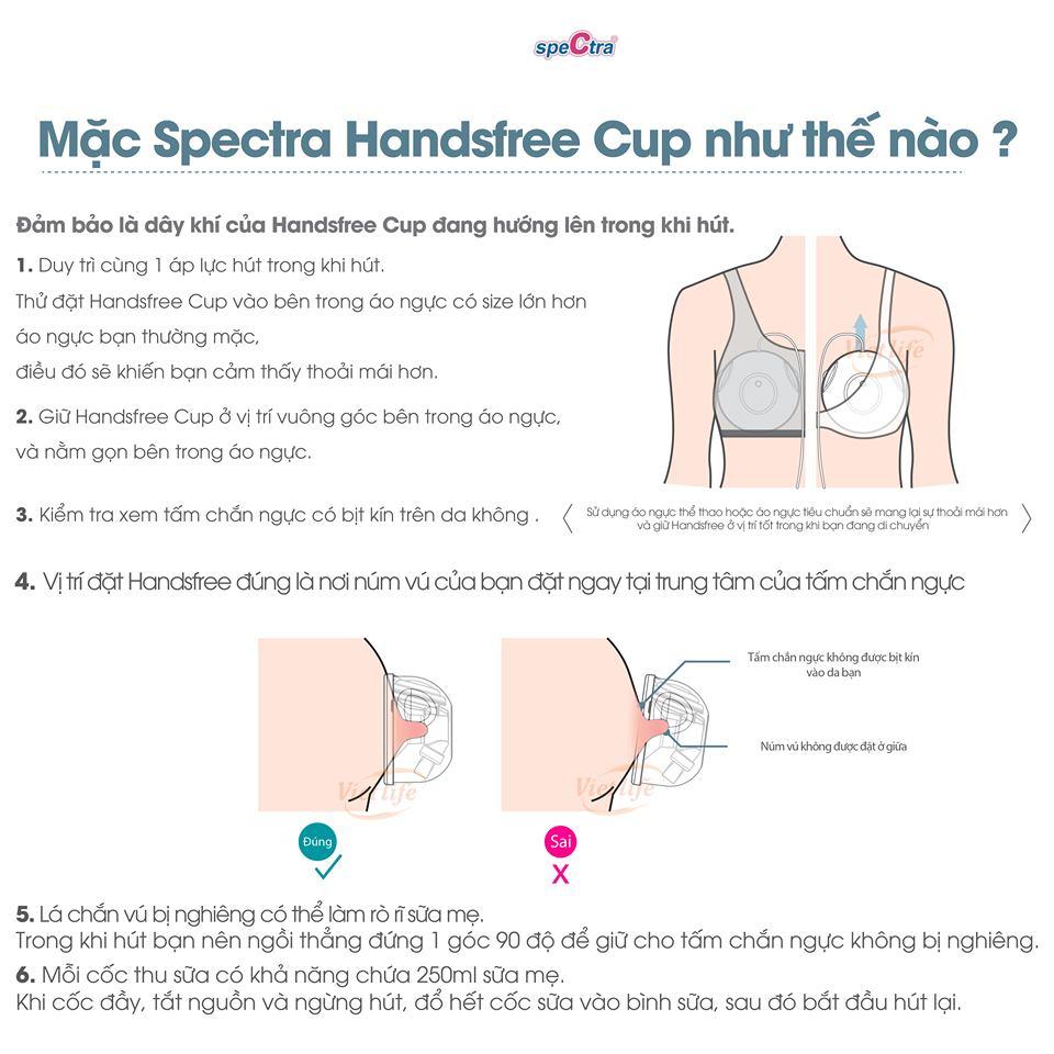 Cup Hút Sữa Spectra Handsfree