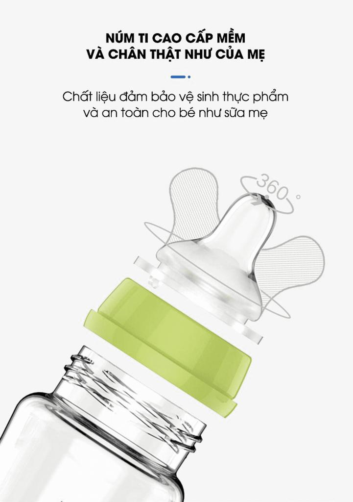 Bình pha sữa thông minh Tiny Baby Nhật Bản