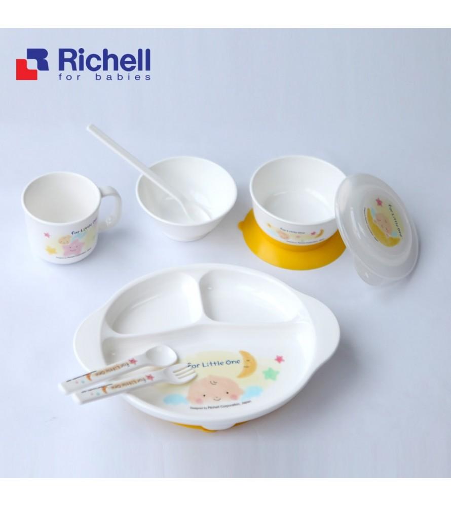 Bộ bát đĩa ăn dặm 9 món  Richell